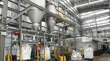 Pabrik daur ulang botol plastik PET