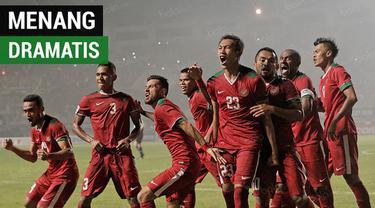 Berita video momen kemenangan dramatis Timnas Indonesia atas Thailand pada leg I Final Piala AFF 2016. Apakah akan terulang kemenangan seperti itu saat bertemu tim War Elephants pada Sabtu (17/11/2018).