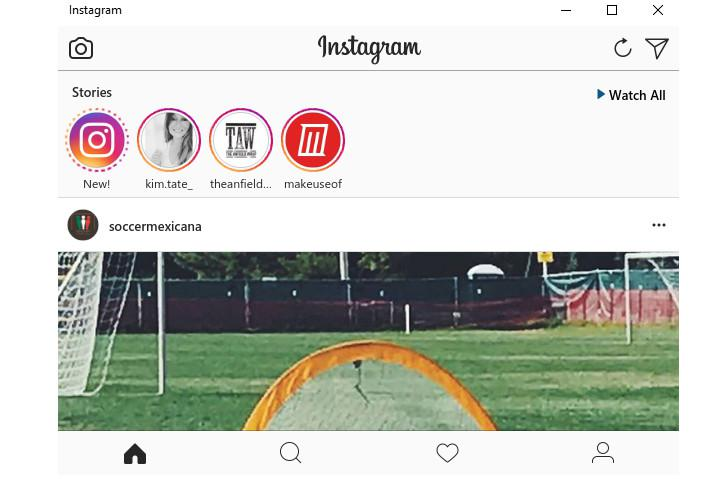 Aplikasi Instagram pada Windows (sumber: Make Use Of)