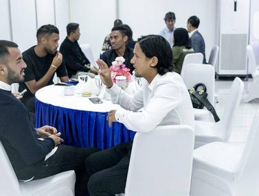 Keakraban Pesepakbola di Indonesia Soccer Award 2019