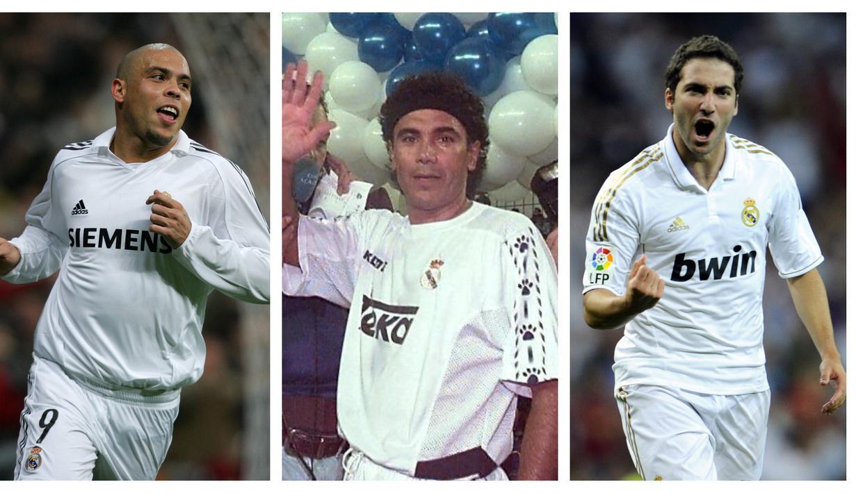 Para pemain Amerika Selatan begitu mendominasi klub-klub di Liga Spanyol. Skill individu untuk mencetak gol terasa pas dipraktekkan. Klub raksasa Spanyol, Real Madrid menjadi bukti. Berikut 5 pemain Amerika Selatan yang menjadi pencetak gol terbanyak di Real madrid. (Kolase Foto AFP)