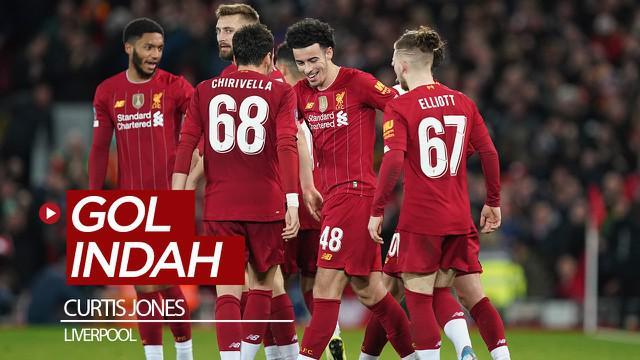 Berita video gol indah pemain 18 tahun, Curtis Jones, mengantarkan Liverpool meraih kemenangan 1-0 atas Everton pada babak 3 Piala FA 2019-2020, Minggu (5/1/2020).