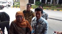 Khofifah Indar Parawansa - Emil Dardak menemui Ketua Umum Partai Golkar Airlangga Hartarto (Merdeka.com/ Hari Ariyanti)