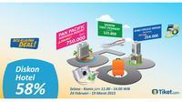 Dalam rangka HUT BCA ke-58, BCA KlikPay Deal! memberikan harga spesial untuk pemesanan hotel dan tiket pesawat di Tiket.com.