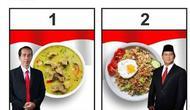 Sebuah restoran di Semarang menyajikan menu Soto Jokowi dan Nasi Goreng Prabowo. (dok.Instagram @pullens.resto/https://www.instagram.com/p/BsvTUP4HUz2/Henry