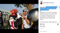 Viral, Pemotor Lawan Pesepeda Siapa yang Salah? (Foto: Instagram)