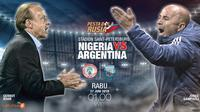 Nigeria vs Argentina (Liputan6.com/Abdillah)