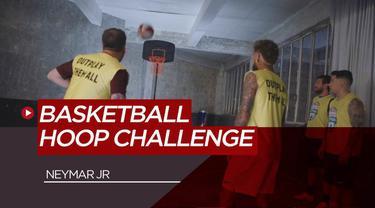 Berita Video Saat Pemain Termahal Dunia, Neymar Jr Ditantang Basketball Hoop Challenge