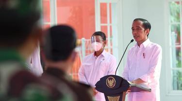 Jokowi meresmikan fasilitas Pengolahan Sampah menjadi Energi Listrik (PSEL) di TPA Benowo Surabaya. (Dian Kurniawan/Liputan6.com)