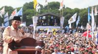 Capres nomor urut 01 Prabowo Subianto berkampanye di Lapangan Sriwedari, Solo (Merdeka.com)