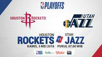 Playoff 2018 Houston Rockets Vs Utah Jazz_Game 2 (Bola.com/Adreanus Titus)