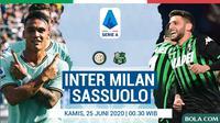 Serie A - Inter Milan Vs Sassuolo - Head to Head Pemain (Bola.com/Adreanus Titus)