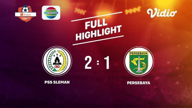 Laga lanjutan Shopee Liga 1, PSS Sleman VS Persebaya berakhir  2-1 #shopeeliga1 #PSS Sleman #Persebaya