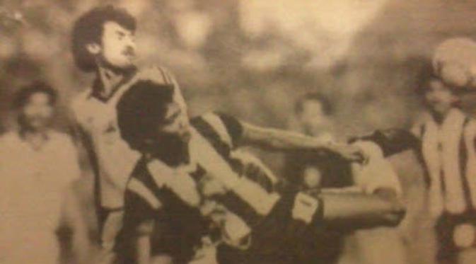 Ribut Waidi, jebol gawang Malaysia di final SEA Games 1987. (soccerklopedi)