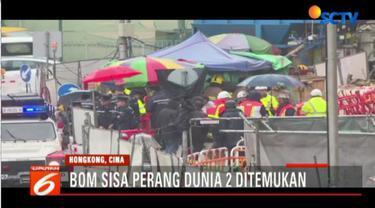 Polisi Hongkong kerahkan tim penjinak bom untuk amankan sebuah bom sisa perang dunia kedua.