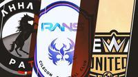 Ilustrasi - Logo AHHA PS Pati, RANS Cilegon FC, Dewa United (Bola.com/Adreanus Titus)