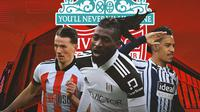 Liverpool - Sander Berge, Anguissa, Matheus Pereira (Bola.com/Adreanus Titus)