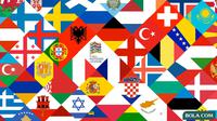 Ilustrasi Logo - Bendera Negara UEFA Nations League (Bola.com/Adreanus Titus)
