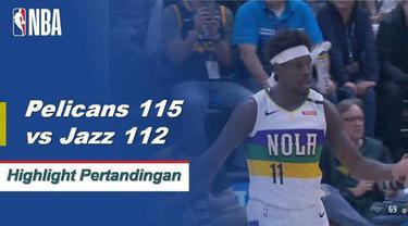 Jure Holiday skor 30 saat Pelikan mendapatkan kemenangan atas Jazz 115-112.