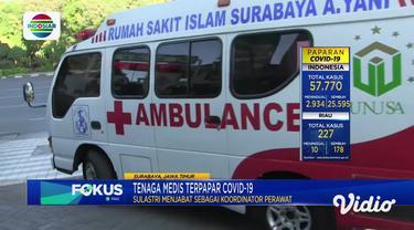 Seorang perawat di Rumah Sakit Islam Ahmad Yani, Surabaya meninggal dunia akibat Covid-19. Perawat senior tersebut meninggal dunia setelah sempat dirawat selama 7 hari di rumah sakit.