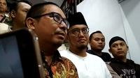 Ketua PP Pemuda Muhammadiyah Dahnil Anzar Simajuntak diperiksa ponyidik Polda Metro Jaya. (Liputan6.com/Anendya Niervana)