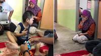 Anak punguti makanan sisa (Sumber: The Express Viral)
