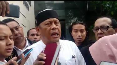 Eggi Sudjana diperiksa sebagai tersangka kasus makar di Polda Metro Jaya.