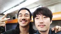 Joe Taslim tampil totalistas saat syuting film Korea. (Sumber: Instagram/@joe_taslim)