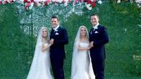 pasangan kembar identik menikah (foto: TLC/Ladbible)