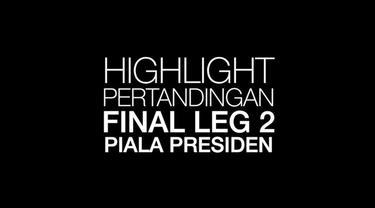 Berita video highlight final Piala Presiden leg 2 antara Arema Fc melawan Persebaya Surabaya yang berakhir dengan skor 2-0 dipersembahkan oleh Pond's Men.