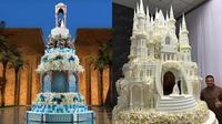 Kue Pernikahan Ini Terlihat Megah Bak Istana. (Sumber: Instagram.com/renat_agzamov)