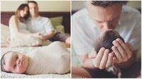 Beberapa foto bayi mungil penderita down syndrome, putri pasangan Erika dan Stephen Jones. (Daily Mail)