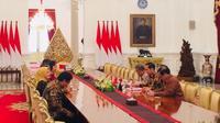 Jokowi menerima pimpinan dan anggota BPK di Istana.