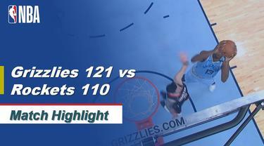Berita Video Highlights NBA 2019-2020, Memphis Grizzlies Vs Houston Rockets 121-110