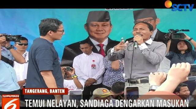 Usai berdialog, Sandiaga mengaku mendapat banyak masukan, mulai dari tangkapan yang menurun.