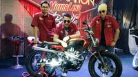 Motor Custom Kolaborasi 3 Artworker Indonesia (Arief A/Liputan6.com)