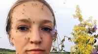 Wanita Rusia yang sempat viral karena bulu matanya beku di Siberia, kini kembali jadi pembicaraan setelah diserang nyamuk (Instagram/@anastasiagav)