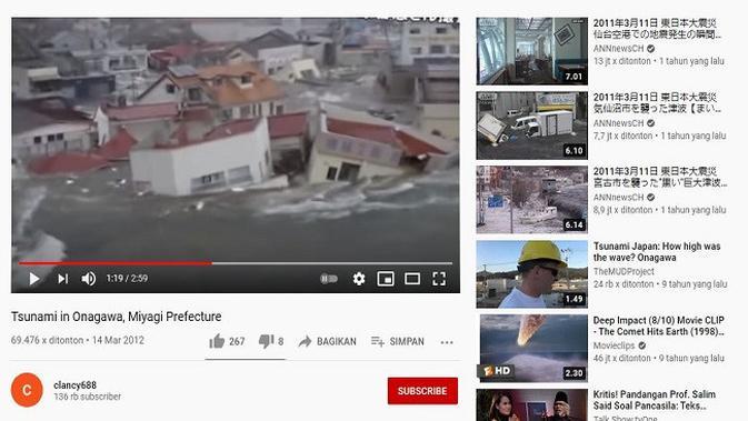 Gambar Tangkapan Layar Video dari Channel YouTube clancy688