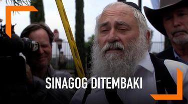 Tempat ibadah warga Yahudi atau sinagog ditembak oleh orang tak dikenal. Akibat kejadian ini, seorang wanita tewas dan tiga lainnya terluka.
