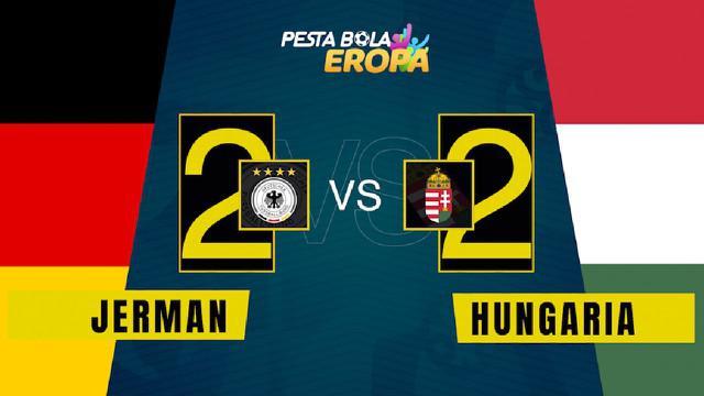 Berita video motion grafis hasil pertandingan Euro 2020 antara Jerman melawan Hungaria di Allianz Arena pada Kamis (24/6/2021).