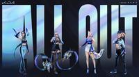 Grup idol K/DA akan ungkap album EP berjudul All Out. (Doc: Riot Games)