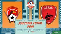 Shopee Liga 1 2019: Kalteng Putra vs PSM Makassar. (Bola.com/Dody Iryawan)
