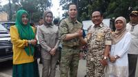 M.Akbar Alfaro dan Hernoe Resprijadi menjadi paslon yang digemari emak-emak di Palembang (Liputan6.com / Nefri Inge)