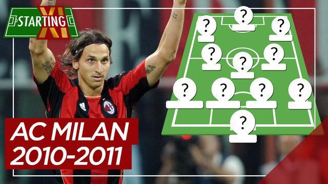 Berita motion grafis Starting XI AC Milan saat meraih Serie A 2010-2011, Zlatan Ibrahimovich di antaranya.