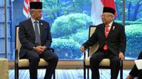 Wakil Presiden Ma'ruf Amin dan Raja Malaysia Sultan Abdullah di Hotel Imperial, Tokyo. (Biro Pers Wapres)