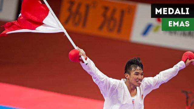 Berita video momen karateka Indonesia, Rifki Ardiansyah, meraih medali emas di Asian Games 2018.