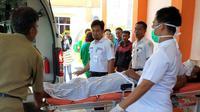 Salah satu korban penembakan anggota Polres Lubuk Linggau (Liputan6.com/Nefri Inge)