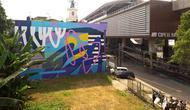 Mural persembahan Stereoflow dan Mahavisual di tembok dekat Stasiun MRT Cipete Raya. (dok. Istimewa)