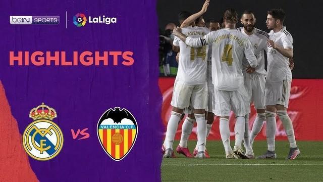 Berita Video Highlights La Liga, Real Madrid Berhasil Menang Telak Atas Valencia dengan skor 3-0