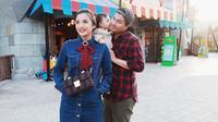 Chelsea Olivia bersama Glenn Alinskie dan putri mereka, Nastusha Olivia Alinskie [foto: instagram/chelseaoliviaa]